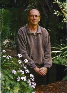 Dennis Lewis in 2005 in his San Francisco garden