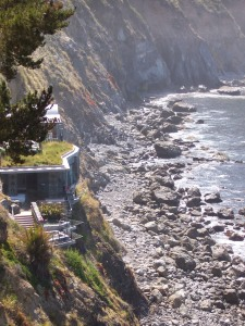 Esalen--View of Hot Tubs & Ocean